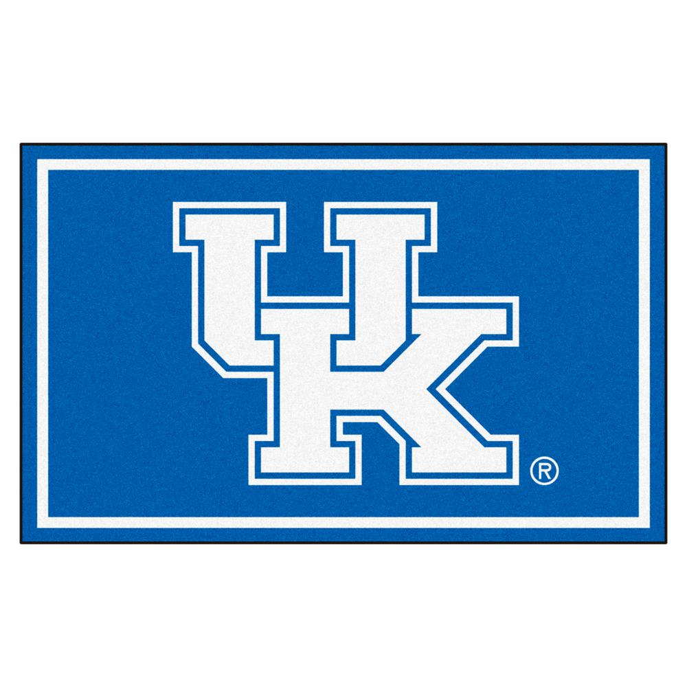 fanmats university of kentucky 4 ft x 6 ft area rug 6287 the