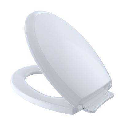 Guinevere SoftClose Elongated Closed Front Toilet Seat in Cotton White