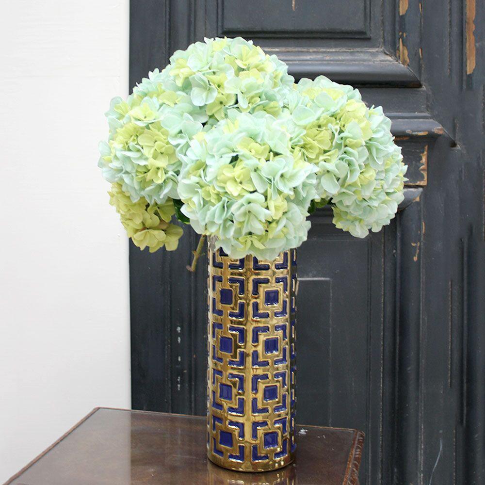 Indoor Blue/Green Hydrangea Stem (Set of 12)