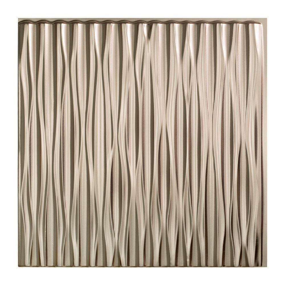 Fasade Dunes Vertical - 2 ft. x 2 ft. Glue-up Ceiling Tile in ...