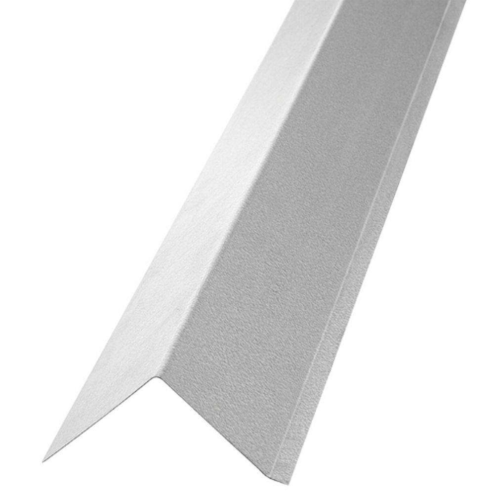 Construction Metals 1 1/2 In. X 1 1/2 In. X 10 Ft. Galvanized Steel Roof  Edge Flashing RE15G   The Home Depot