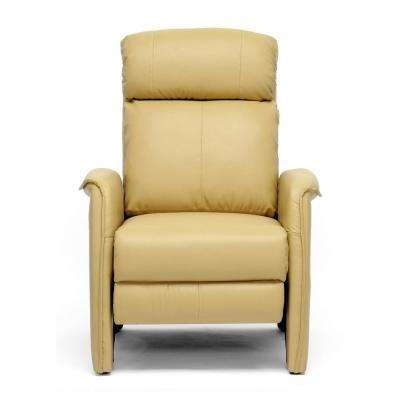 Aberfeld Tan Faux Leather Upholstered Recliner