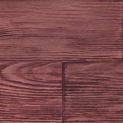 Superior Raised Grain 10 in. x 10 in. Faux Transitional Panel Siding Sample Mahogany