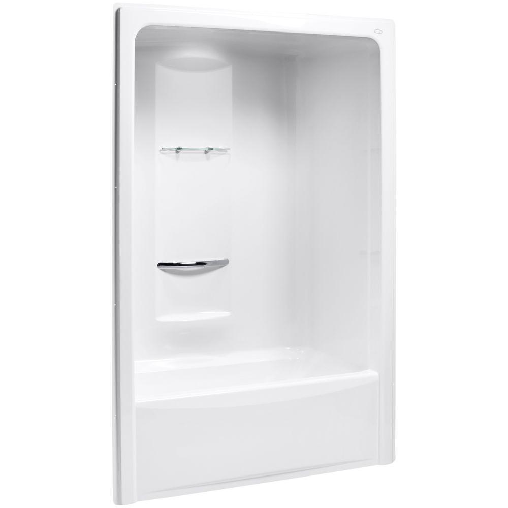 KOHLER Sonata 60 in. x 34.8125 in. x 90 in. Bath and Shower Kit with Left Drain in White