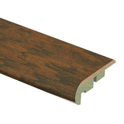 Dark Brown Hickory 3/4 in. Thick x 2-1/8 in. Wide x 94 in. Length Laminate Stair Nose Molding