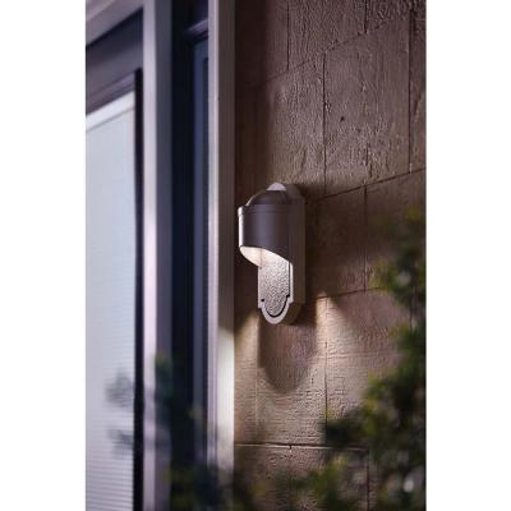 Dark Sky 1-Light Bronze Outdoor Integrated LED Wall Lantern Sconce