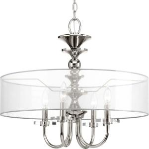 March Collection 4-Light Polished Nickel Pendant