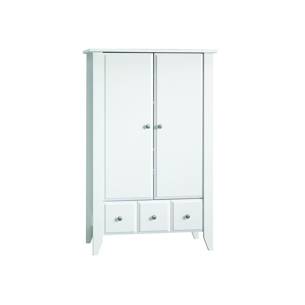 SAUDER Shoal Creek Collection White Armoire