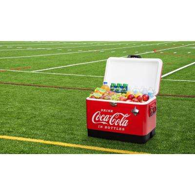 54 Qt  Stainless Steel Coca-Cola Ice Chest Cooler