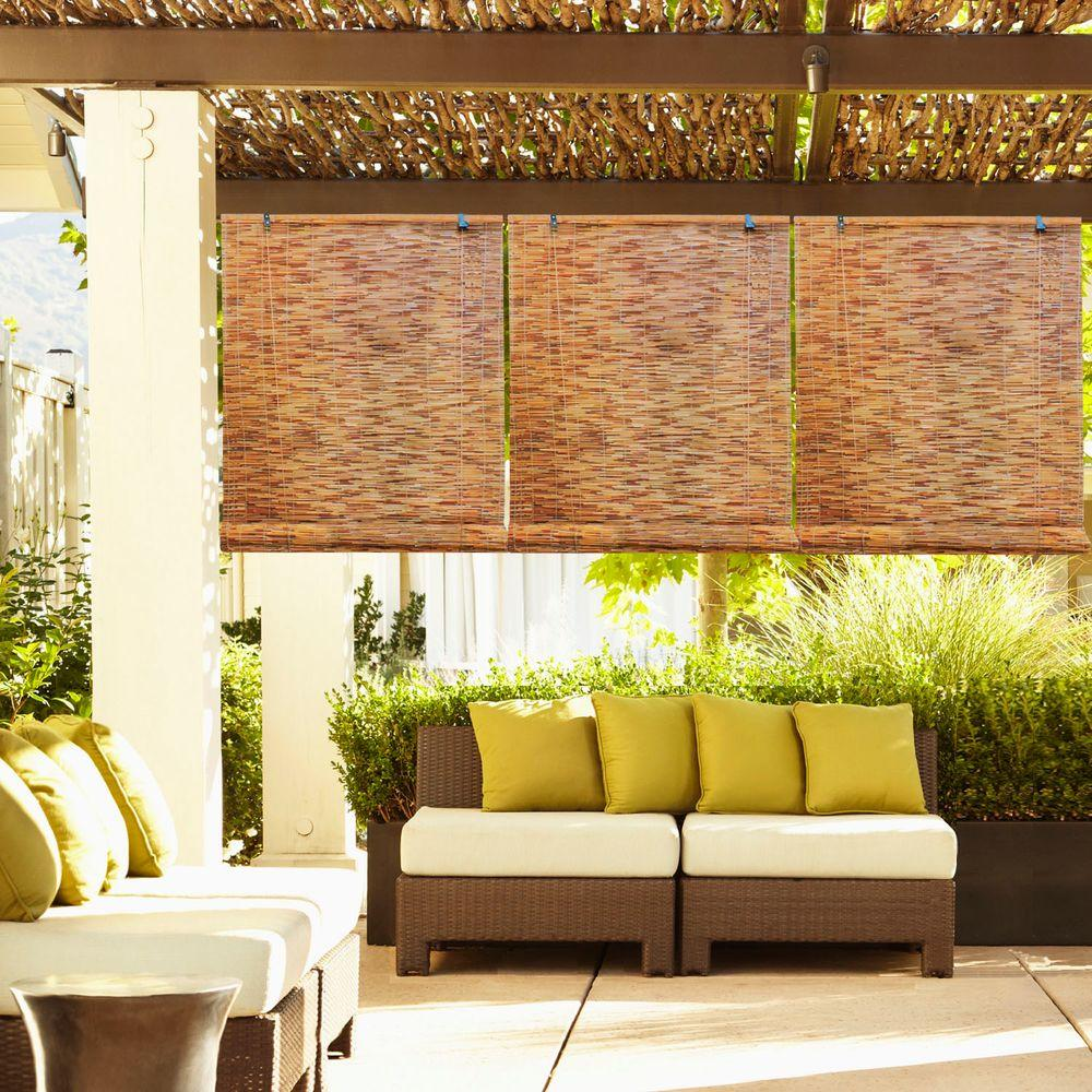 This Review Is From 72 In W X L Cocoa Horizontal Natural Woven Roll Up Shade