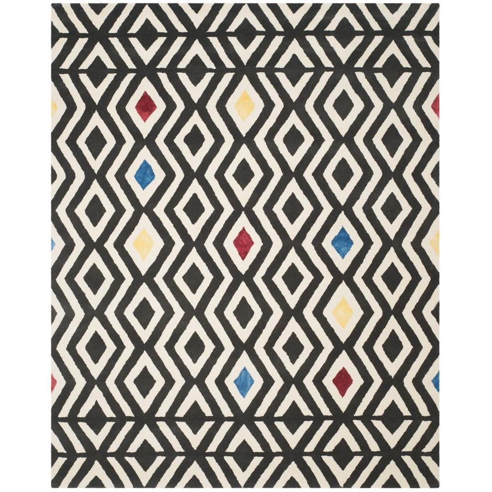 Safavieh Soho Beige/Charcoal 7 ft. 6 in. x 9 ft. 6 in. Area Rug