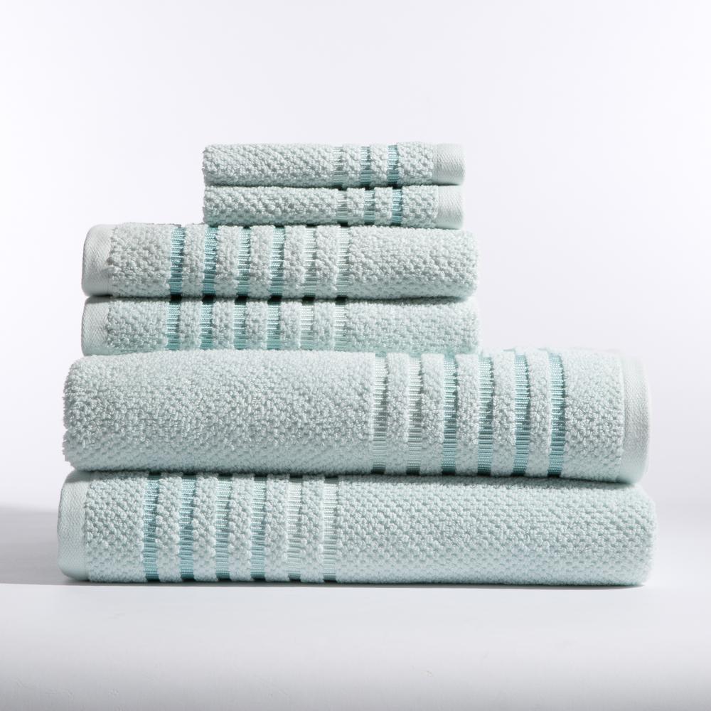 Caro Home Maggie 6 Piece Bath Towel In Fresh Air