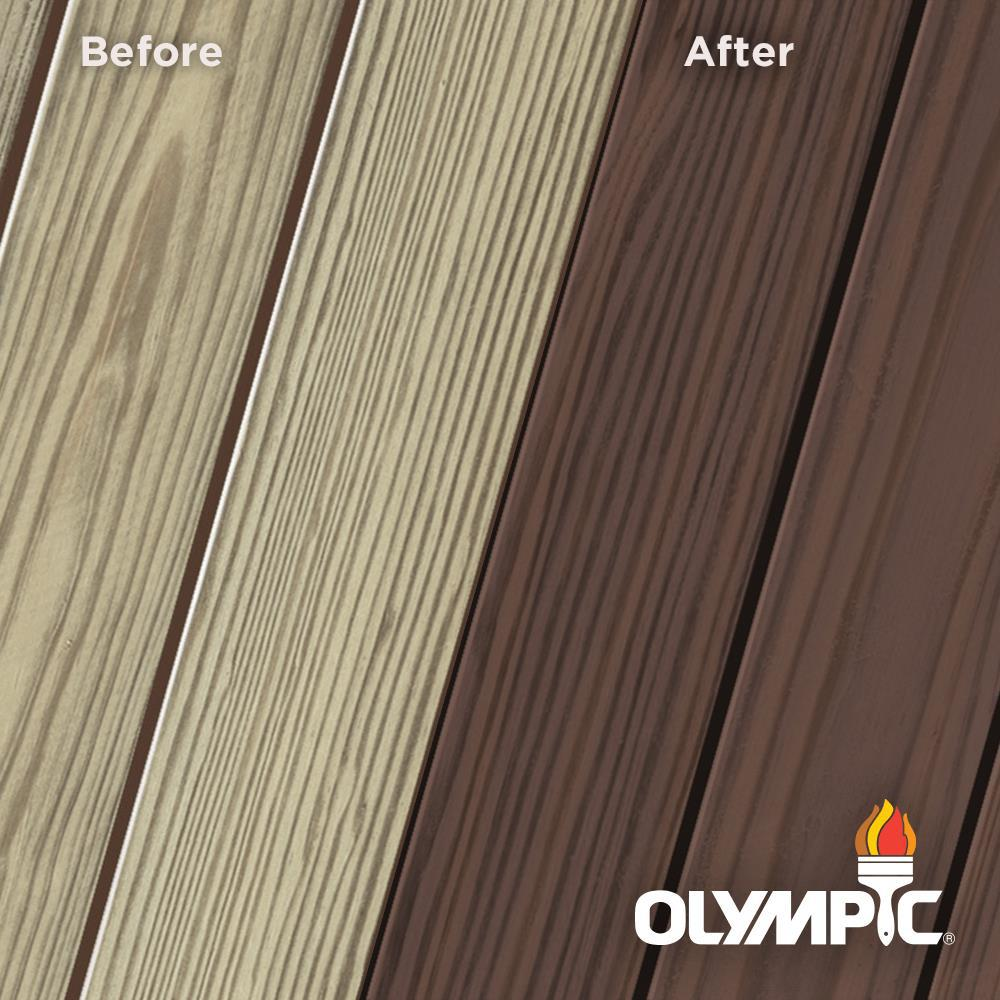 Olympic Elite 3 Gal. Royal Mahogany Semi-Solid Exterior Wood Stain and Sealant in One
