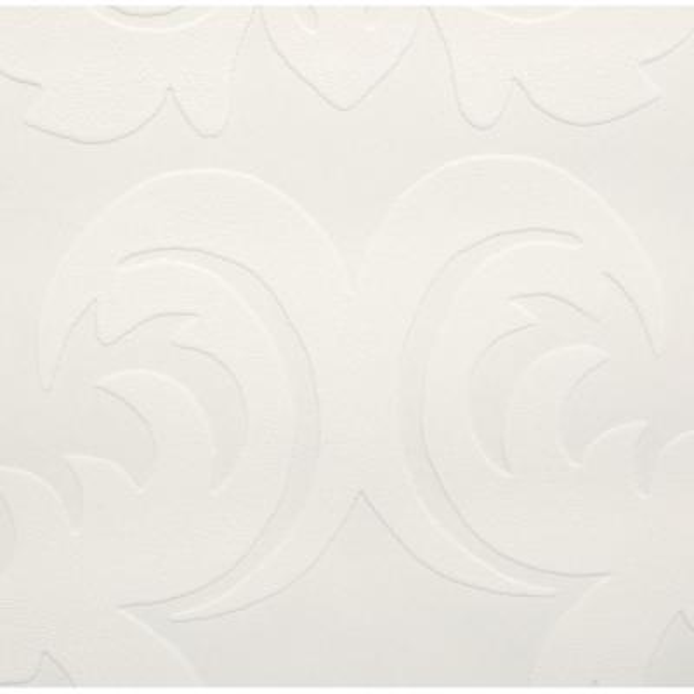 56 sq. ft. Large Damask Paintable White Wallpaper