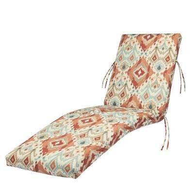 23 x 47 Outdoor Chaise Lounge Cushion in Standard Allesandro Spiceberry
