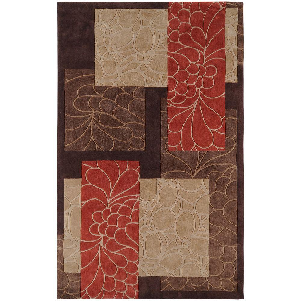 Artistic Weavers Gela Brown 3 ft. 6 in. x 5 ft. 6 in. Area Rug