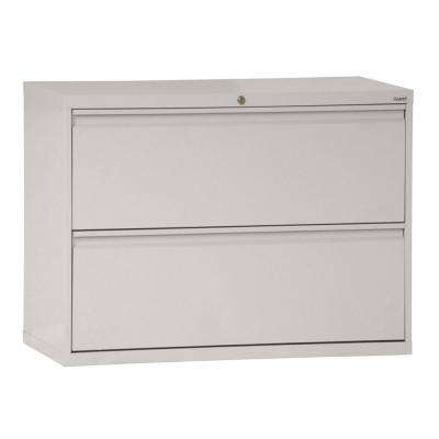 800 Series 28 in. H x 36 in. W x 19 in. D 2-Drawer Full Pull Lateral File Cabinet in Dove Gray