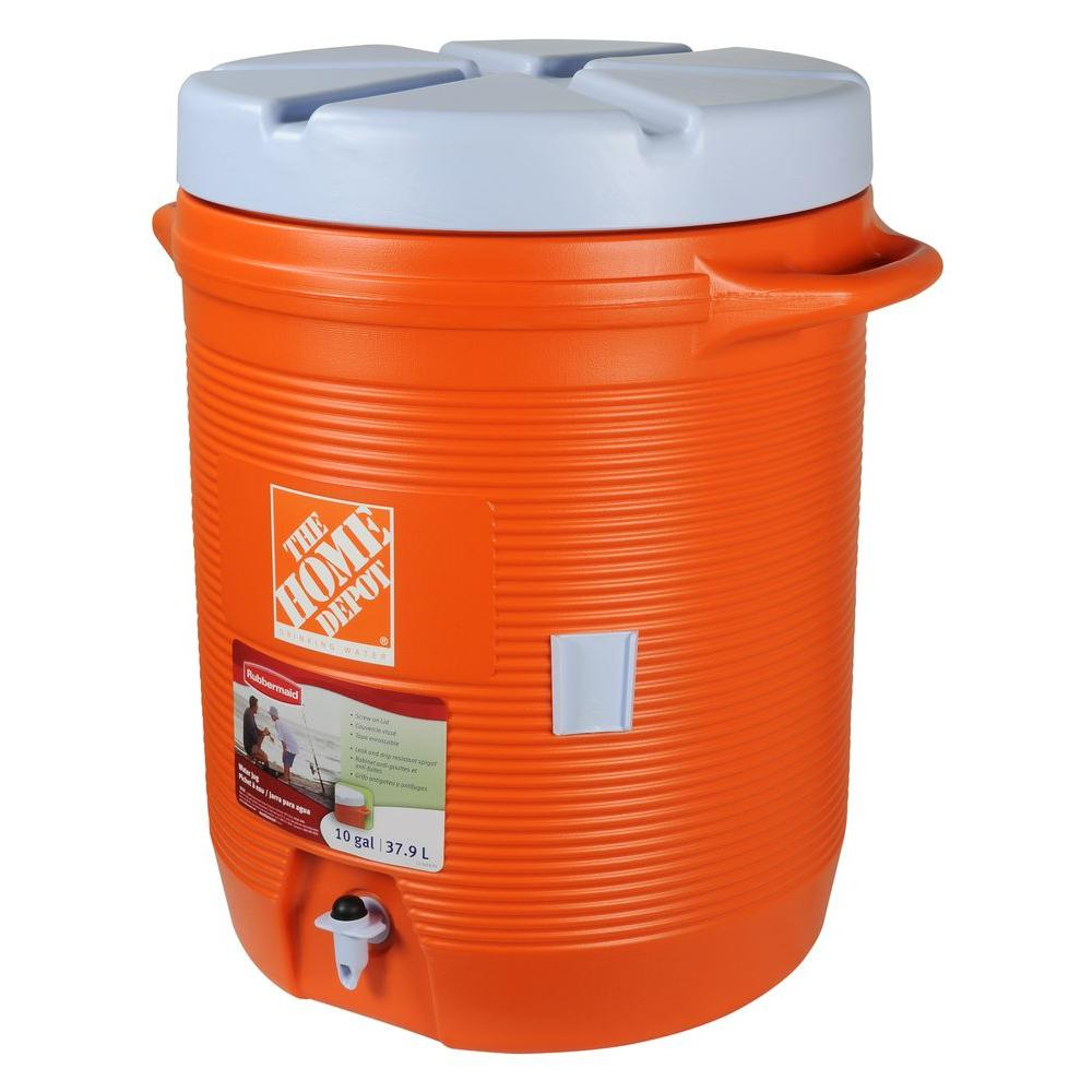Rubbermaid 40 Qt Orange Water Cooler Fg1610hdoran The