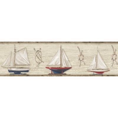 Set Sail Boat Wallpaper Border