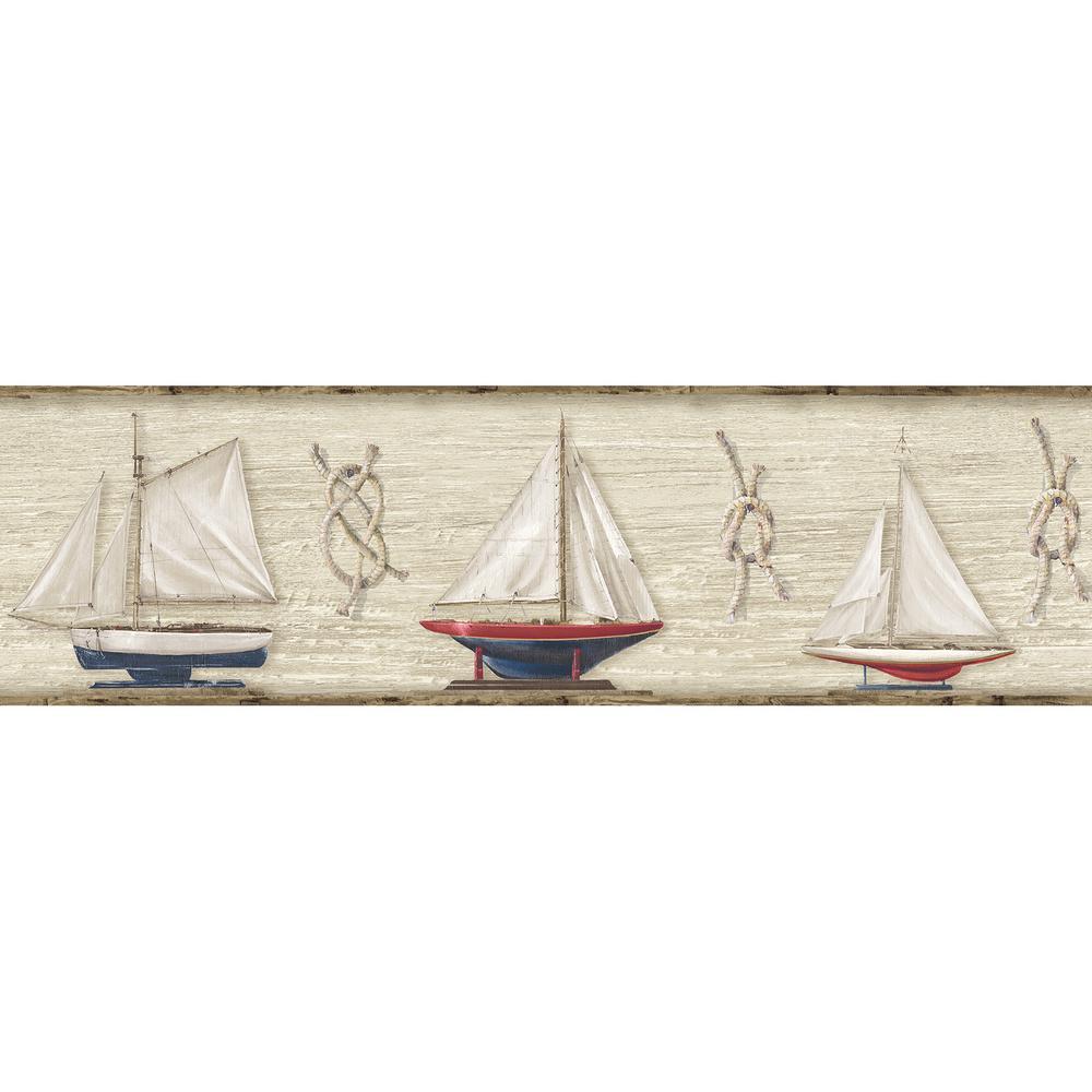 Set Sail Boat Wallpaper Border