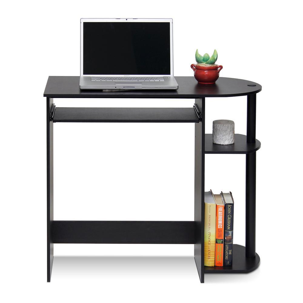 Simplistic Espresso Computer Desk