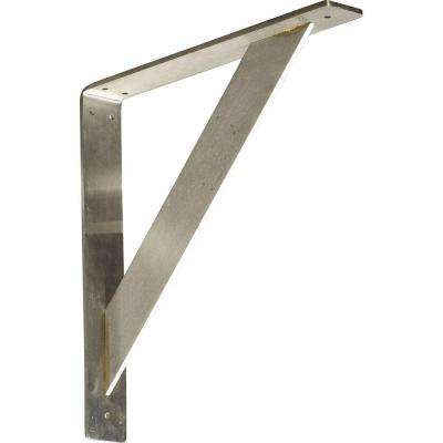 14 in. x 2 in. x 14 in. Stainless Steel Unfinished Metal Traditional Bracket