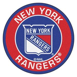 NHL New York Rangers Red 2 ft. x 2 ft. Round Area Rug
