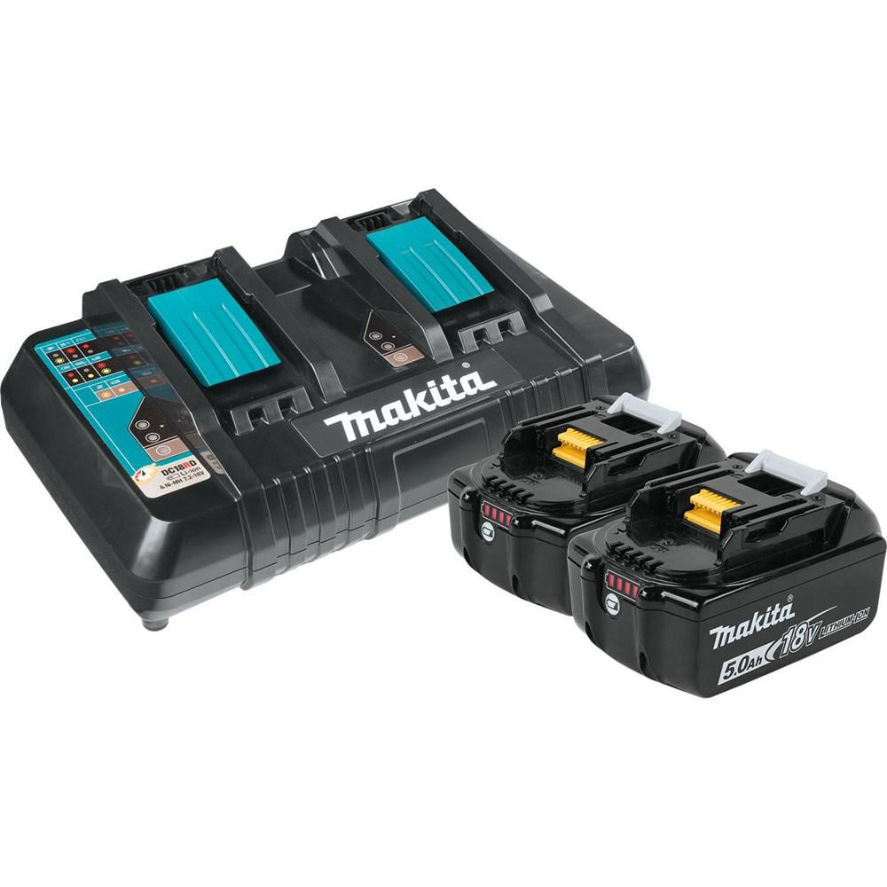 makita 18 volt 5 0ah lxt lithium ion battery and dual port. Black Bedroom Furniture Sets. Home Design Ideas