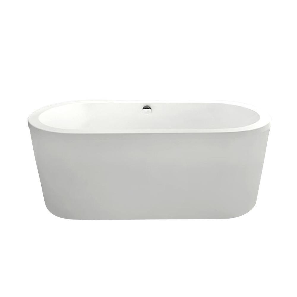 Aquatica PureScape 014M 5.25 ft. Acrylic Double Ended Flatbottom Non-Whirlpool Bathtub in White