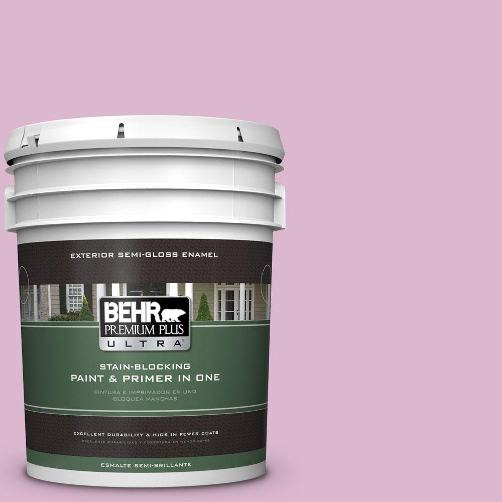 BEHR Premium Plus Ultra 5-gal. #M120-3 Pink Wink Semi-Gloss Enamel Exterior Paint