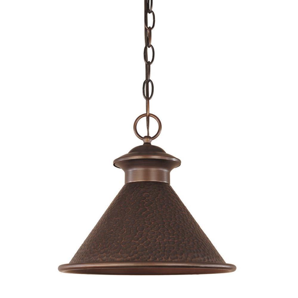 World Imports Dark Sky Essen 1-Light Outdoor Antique Copper Pendant