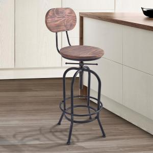 Peachy Todays Mentality Archer Industrial 41 47 In Silver Brushed Squirreltailoven Fun Painted Chair Ideas Images Squirreltailovenorg