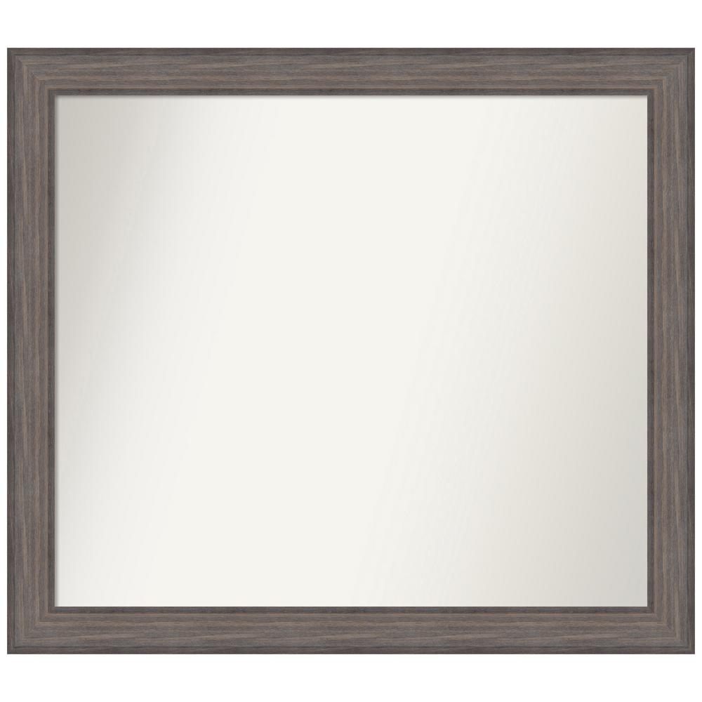 Amanti Art Choose Your Custom Size 42.25 in. x 37.25 in. Country Barnwood Decorative Wall Mirror was $569.95 now $284.97 (50.0% off)