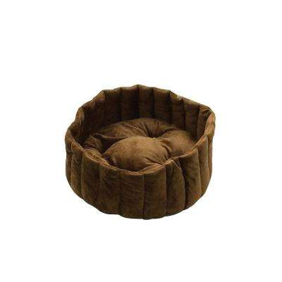 Lazy Cup Large Tan/Mocha Cat Bed
