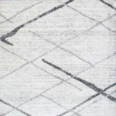 Thigpen Grey 8 ft. x 8 ft. Square Area Rug