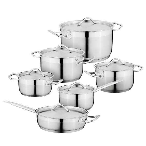 Essentials Hotel 12-Piece Stainless Steel Cookware Set