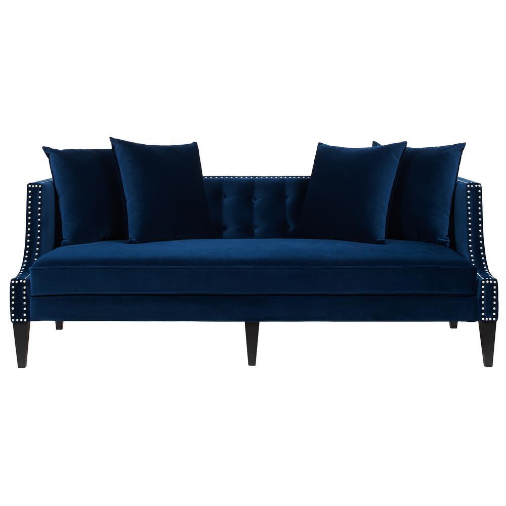 Jennifer Taylor Caroline Navy Blue Sofa 63013-3-859 - The Home Depot