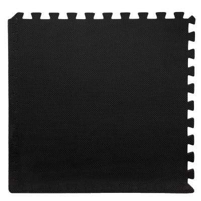 Black 24 in. x 24 in. x 0.375 in. Interlocking EVA Foam Floor Mat (6-Pack)
