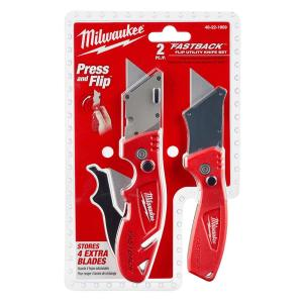 Milwaukee Fastback Flip Utility Knife Set (2-Piece) by Milwaukee