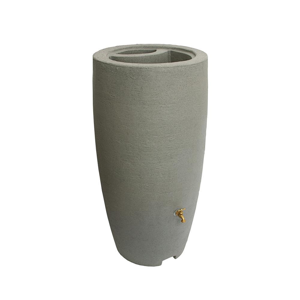 80 Gal. Taupestone Athena Plastic Rain Barrel
