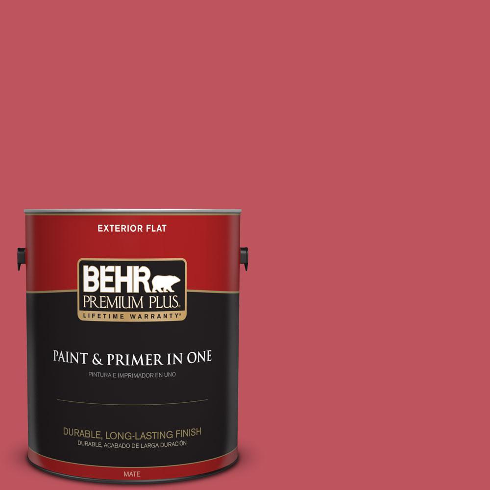 BEHR Premium Plus 1-gal. #P140-6 Hibiscus Flower Flat Exterior Paint
