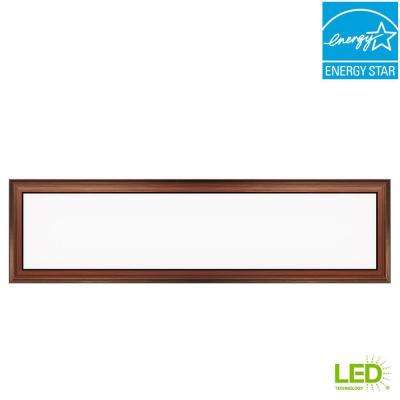 1 ft. x 4 ft. 50-Watt Dimmable Bronze Integrated LED Edge-Lit Deco Panel Ceiling Flushmount with Color Changing CCT
