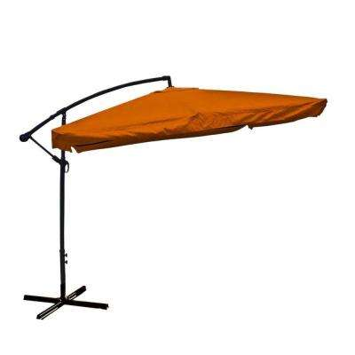 10 ft. Steel Cantilever Patio Umbrella in Orange