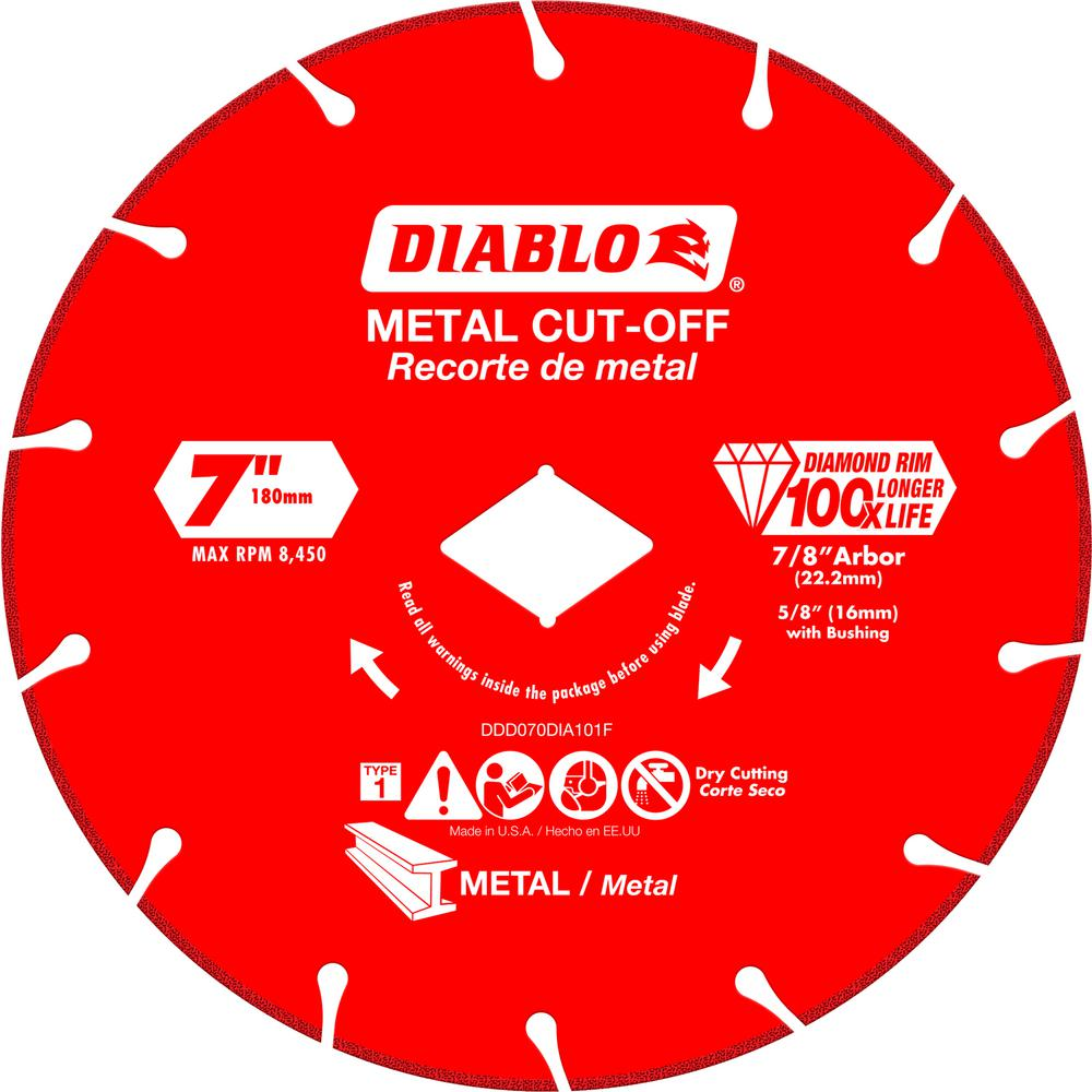7 in. Diamond Wheel for Metal Cutting