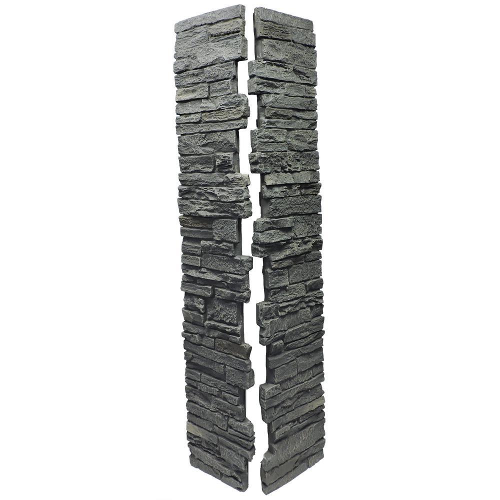 NextStone Faux Polyurethane Stone Split Post Cover - Rundle Ridge