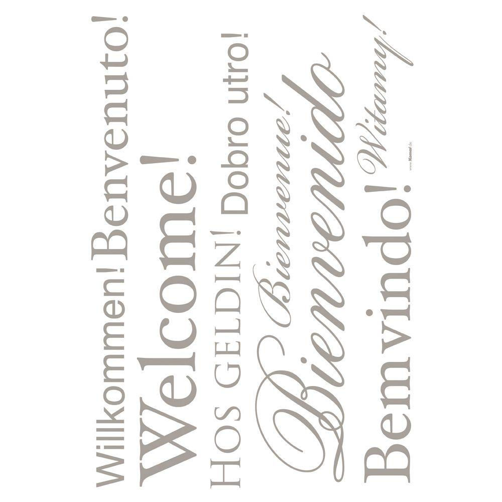 19 in. x 27 in. Welcome Wall Decal