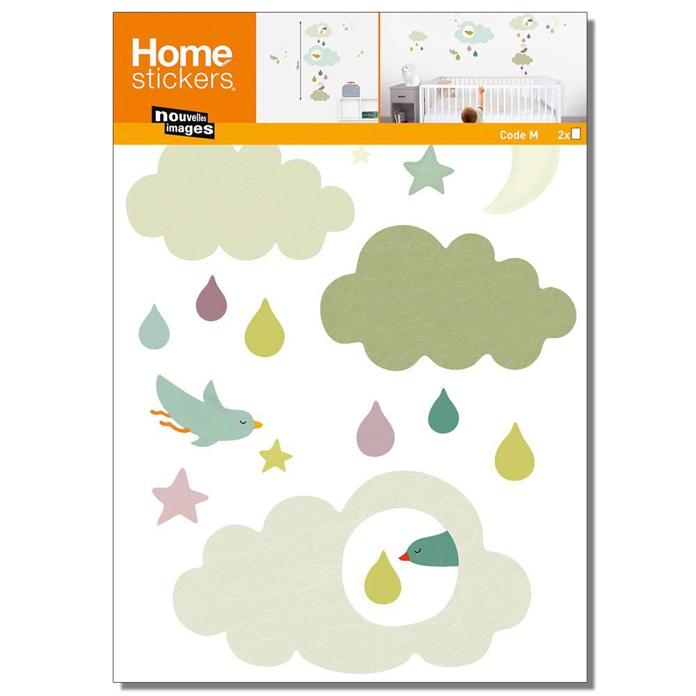 Multicolor Cloud/Kids Home Sticker