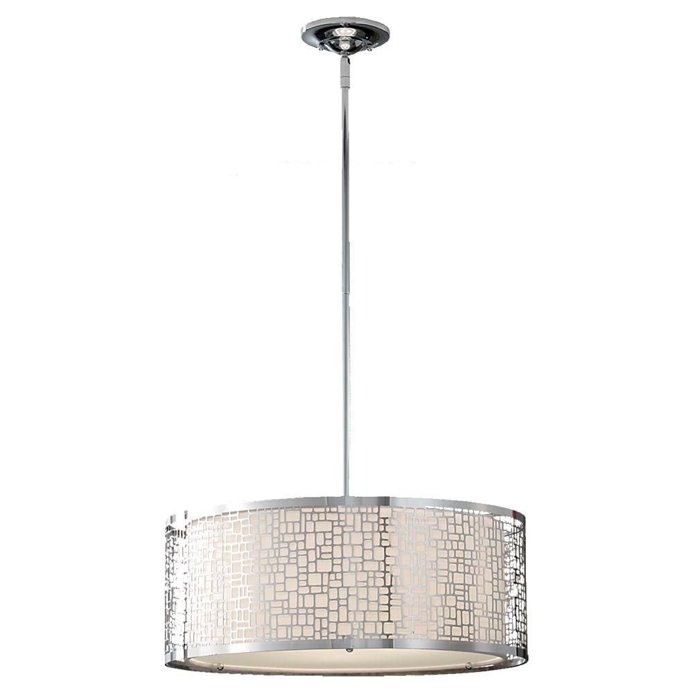 Feiss Joplin 3-Light Chrome Large Pendant