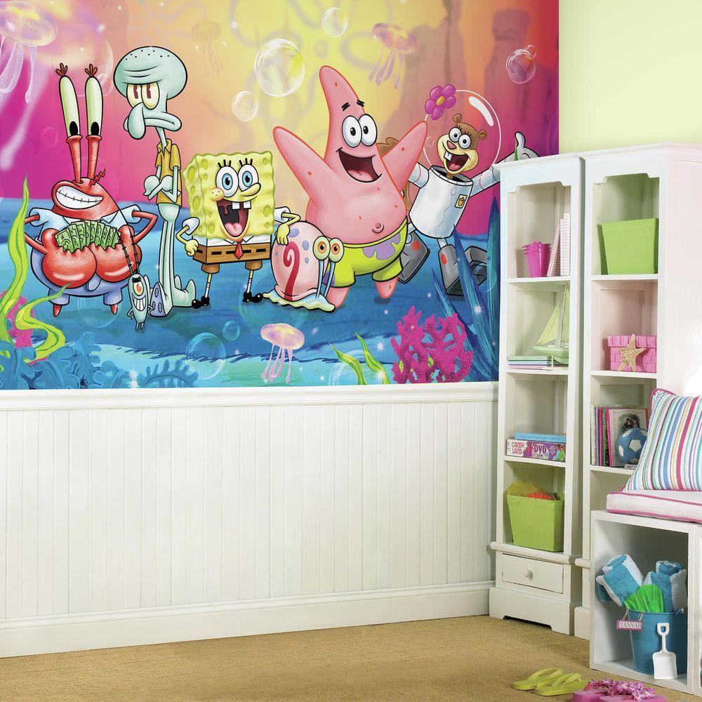 RoomMates 72 in x 126 in SpongeBob Square Pants XL Chair Rail 7