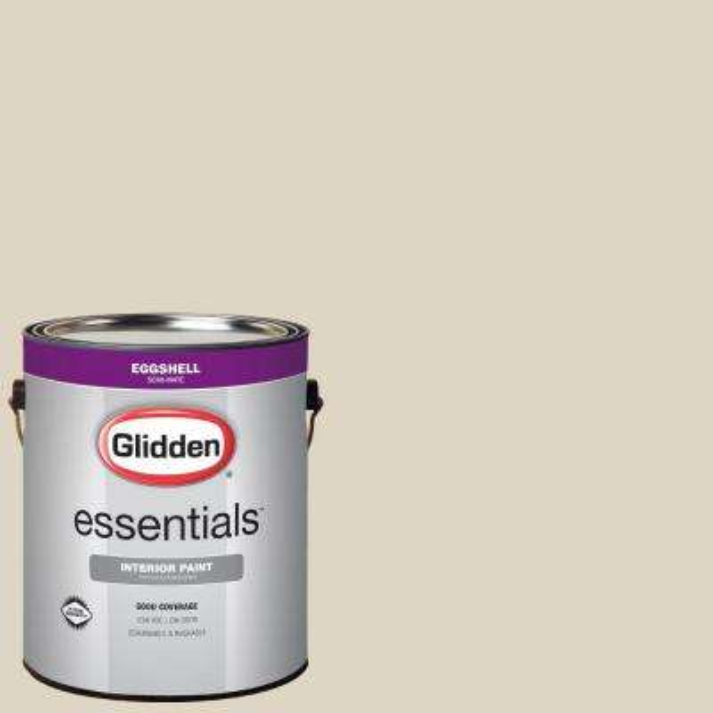 1 gal. #HDGWN28U Pillar Beige Eggshell Interior Paint